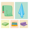 bathroom towels icons vector image