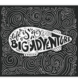 big adventure typography vector image vector image