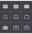 black briefcase icons set vector image vector image