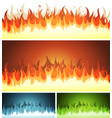 blaze burning fire and flames set vector image vector image