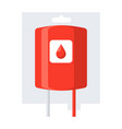 blood transfusion icon vector image vector image