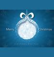 blue xmas greeting with abstract xmas ball vector image