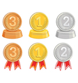 BronzeGold and Silver medalsawards vector image
