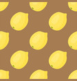 cartoon fresh lemon fruits in flat style seamless vector image vector image