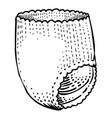 cartoon image of diaper icon nappy symbol vector image vector image