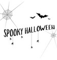 collection halloween text banner style vector image
