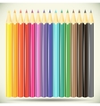 Collection of pencils on white background vector image