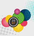 colorful beautiful balls on light background vector image vector image