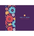 Colorful bouquet flowers horizontal seamless vector image vector image