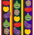 Crazy fruits and vegetables seamless pattern vector image