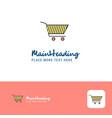 creative cart logo design flat color logo place vector image vector image