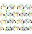 Cute little fox seamless pattern vector image vector image
