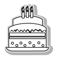 Delicious dessert cake vector image