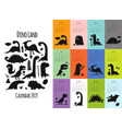 dinosaurs calendar 2019 design vector image vector image