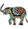 elephant with oriental decor vector image vector image