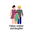father mother and daughter icon can be used for vector image