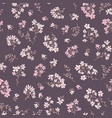 floral seamless pattern ornamental flowers summer vector image vector image