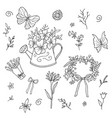 flower doodling hand drawn vector image
