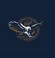 flying eagle emblem vector image vector image