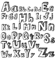 font freehand vector image vector image