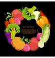 food round background vector image vector image