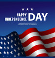 fourth of july independence day poster or card vector image vector image