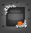 frame halloween with soccer balls vector image vector image