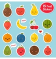 Fruits icon set Colorful template for cooking vector image
