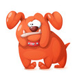 funny cute crazy cartoon dog vector image