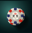 gambling chips top view - pile casino chips vector image vector image