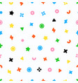 geometric sweets seamless pattern abstract vector image vector image