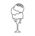 glass ice cream vector image vector image