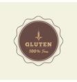 Gluten free label vector image vector image
