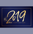 happy new uear post with nice lettering 2019 in vector image vector image