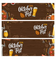 horizontal posters to oktoberfest 2019 festival vector image