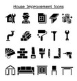 house improvement icon set vector image vector image