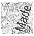 How Choppers Evolved Word Cloud Concept vector image vector image