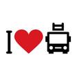 i love fire trucks vector image vector image