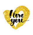 i love you handwritten inscription vector image vector image