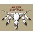 Indian Bull Skull vector image