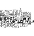 is your personal data safe text background word vector image vector image