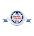 limited edition product sale and quality label vector image