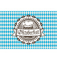 logo for Oktoberfest in the pub or bar during the vector image vector image