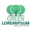 Logo green tree 2 vector image vector image