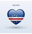 Love Cape Verde symbol Heart flag icon vector image vector image