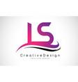 ls l s letter logo design creative icon modern vector image vector image