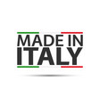 made in italy colored symbol with italian vector image vector image