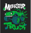 monster truck for t-shirt prints vector image