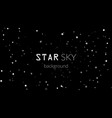 night sky with white stars on black background vector image