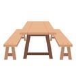 picnic table icon vector image